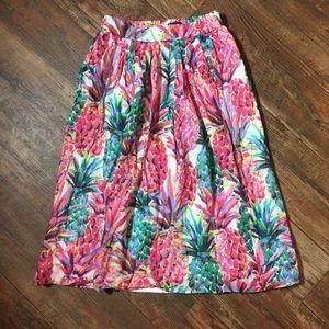 J. Crew Pineapple 00 Skirt Lined Watercolor
